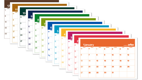 カレンダー カレンダー 2011 年間 : アルフレックスカレンダー ...